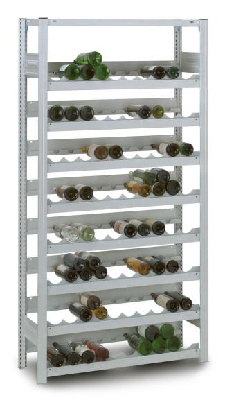 Flaschenregal mit Stecksystem, verzinkt