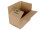 FIX- Aufrichtekarton aus Wellpappe braun (B TL) m. Automatikboden, DIN 1/8 EURO, 390x290x 100-240 mm, Braun