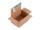 System-Versand-Transportkarton mit progressBOX Boden und Selbstklebeverschluß und Aufreißfaden - 1-wellig, DIN C5, 230x165x115-95 mm, Braun