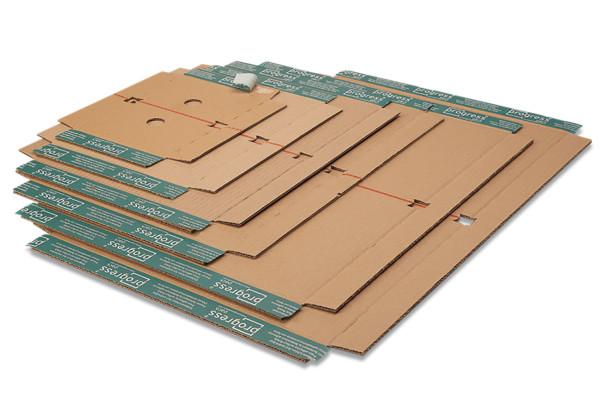 System-Fixiereinlage mit Selbstklebeverschluß, DIN C5, Braun
