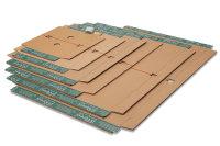 System-Fixiereinlage mit Selbstklebeverschluß, DIN A4+, Braun