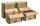 Umzugs-Transportkarton mit progressBOX Boden, 650x350x370 mm, Braun
