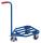 Griffroller mit Stahlrohrladefläche, 150 kg Traglast, 565 x 450 mm, blau