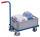 Griffroller mit Kunststoffkiste, 250 kg Traglast, 615 x 415 mm, blau