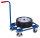 Griffroller mit Stahlrohrladefläche, 250 kg Traglast, 605 x 500 mm, blau
