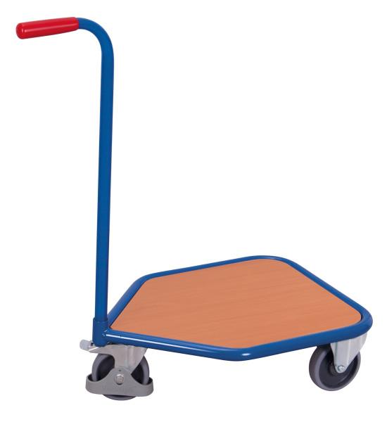 Griffroller mit Boden, 150 kg Traglast, 565 x 450 mm, blau