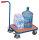 Griffroller mit Boden, 250 kg Traglast, 605 x 500 mm, blau