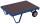 Schwerlast-Rollplatte, 1000 kg Traglast, 1190 x 800 mm, blau