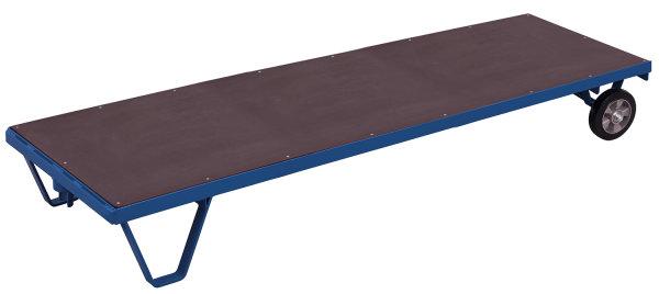 Schwerlast-Rollplatte, 1500 kg Traglast, 3990 x 800 mm, blau