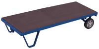 Schwerlast-Rollplatte, 3000 kg Traglast, 1990 x 1000 mm, blau