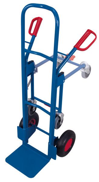 Stahlrohrkarre mit Stützrad, Außenmaße: 575 x 588 x 1.305 mm (B/T/H), Schaufelmaß: 320 x 250 mm (B/T)