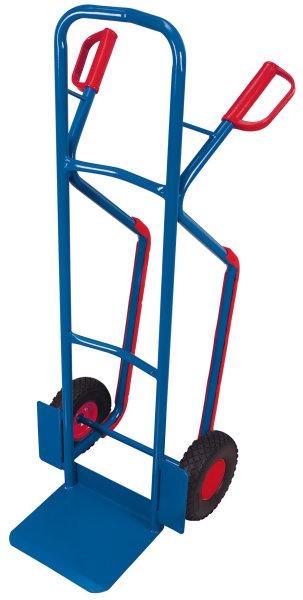 Pannensichere Stahlrohrkarre, Außenmaße: 550 x 615 x 1.305 mm (B/T/H), Schaufelmaß: 320 x 250 mm (B/T)