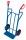 Stahlrohrkarre mit großer Schaufel, Außenmaße: 690 x 550 x 1.200 mm (B/T/H), Schaufelmaß: 480 x 140 mm (B/T)