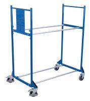 Reifenwagen mit 2 Etagen, 300 kg Traglast, 1145 x 395 mm, blau