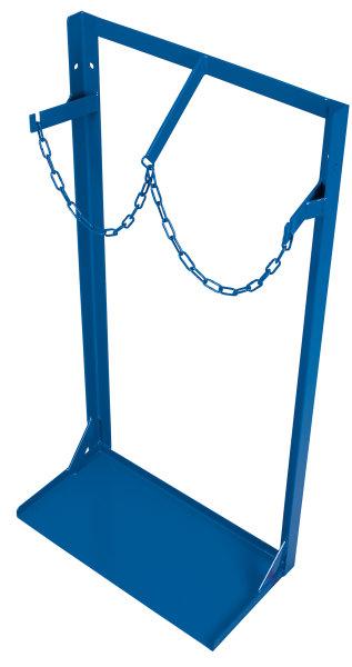Stahlflaschenständer für 2 Flaschen a 40-50 l, 200 kg Traglast, 555 x 275 mm, blau