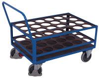 Stahlflaschenwagen, 500 kg Traglast, 1120 x 760 mm, blau