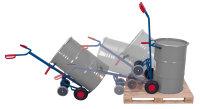 Fasskarre mit 2 Stützrädern, Außenmaße: 700 x 350 x 1.600 mm (B/T/H), Ausführung: