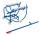 Fasskipper mit 2 Stahlrollen, Außenmaße: 905 x 705 x 655 mm (B/T/H), Ausführung: