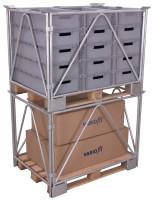 Palettenaufsatz Typ 68, verzinkt,  kg Traglast, 1200 x 800 mm,