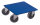 Möbelhund mit thermoplastischer Bereifung, 750 kg Traglast, 600 x 600 mm, blau