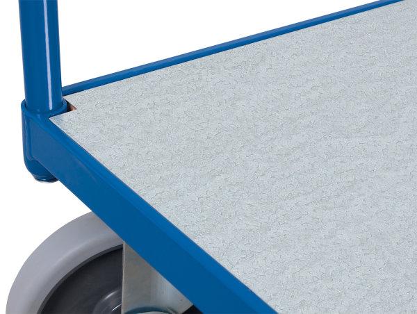 Zinkblechladefläche, Maße: 1.238 x 777 x 15 mm (B/T/H), (Bodenplatte des Basismodels)