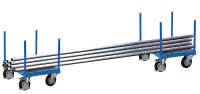 Langmaterialroller, 1200 kg Traglast, 625 x 625 mm, blau