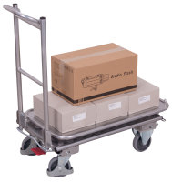 Aluminium Klappbügelwagen mit 2 Etagen, 150 kg Traglast, 720 x 450 mm,