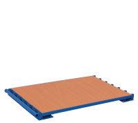 Plattenständer ohne Bügel, 1200 kg Traglast, 1200 x 800 mm, blau