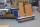 Plattenwagen, 500 kg Traglast, 1500 x 370 mm, blau
