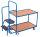 Kommissionierwagen mit 2 Ladeflächen, niedrig, 250 kg Traglast, 985 x 605 mm, blau