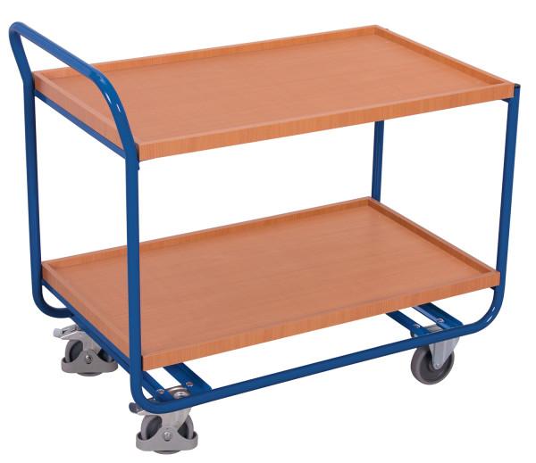 Stahl Tischwagen, 200 kg Traglast, 970 x 570 mm, blau