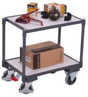 ESD Euro-Systemroller mit 2 Ladeflächen, 250 kg Traglast, 605 x 410 mm, grau
