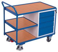 Werkstattwagen mit 3 Ladeflächen, 250 kg Traglast, 985 x 595 mm, grau