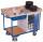 Werkstattwagen mit 2 Ladeflächen, 400 kg Traglast, 1125 x 630 mm, grau
