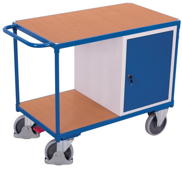 Werkstattwagen mit 2 Ladeflächen, 500 kg Traglast, 1060 x 600 mm, grau