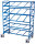 Eurokastenwagen, 250 kg Traglast, 1240 x 610 mm, blau
