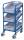 Eurokastenwagen mit 3 Kunststoffkästen, 200 kg Traglast, 410 x 610 mm, blau