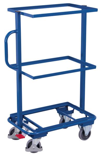 Beistellwagen ohne Böden, 200 kg Traglast, 610 x 410 mm, blau