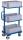 Beistellwagen mit 3 Kunststoffkästen, 200 kg Traglast, 610 x 410 mm, blau