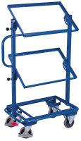 Beistellwagen ohne Böden, neigbar, 200 kg Traglast, 610 x 410 mm, blau