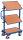 Beistellwagen mit 3 Holzböden, neigbar, 200 kg Traglast, 610 x 410 mm, blau