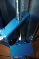 Materialständer mit Handkurbel, 150 kg Traglast, 510 x 410 mm, blau