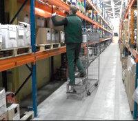 Kommissionierwagen, verzinkt, 300 kg Traglast, 1250 x 460 mm,