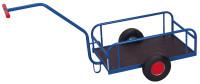 Handwagen ohne Bordwand, 400 kg Traglast, 825 x 535 mm, blau