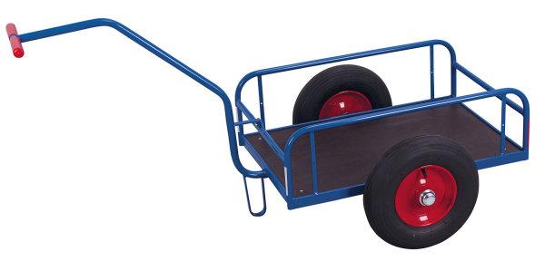 Handwagen ohne Bordwand, 400 kg Traglast, 1000 x 635 mm, blau