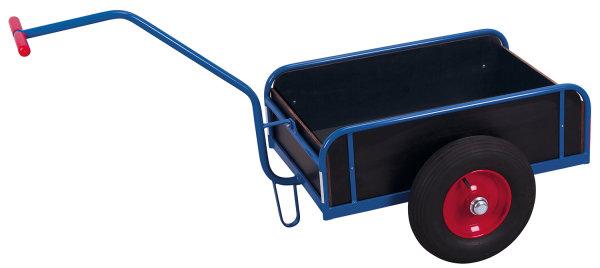 Handwagen mit Bordwand, 400 kg Traglast, 975 x 635 mm, blau