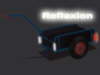 Handwagen mit Bordwand, 400 kg Traglast, 805 x 535 mm, blau
