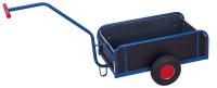 Handwagen mit Bordwand, 400 kg Traglast, 1105 x 535 mm, blau