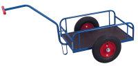 Handwagen ohne Bordwand, 200 kg Traglast, 785 x 435 mm, blau