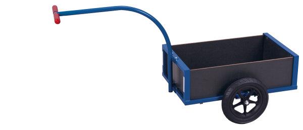 Leichter Handwagen, 150 kg Traglast, 690 x 425 mm, blau